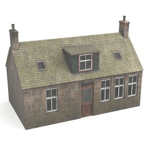3D scottish house
