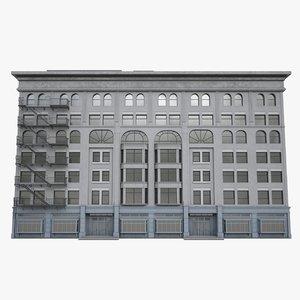 new york facade building 3D