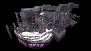 steampunk factory 3D model