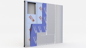 3D wall partitions insulation