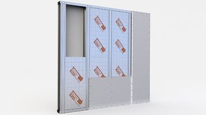 wall partitions insulation 3D model