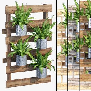 3D fern hanging