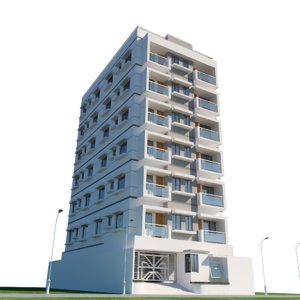 residential building architectural 3D