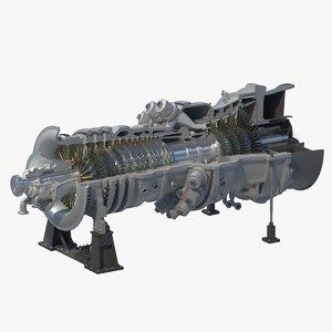 sgt6-5000f gas turbine 3D model