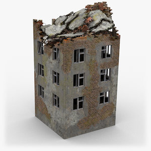 3D ruined building