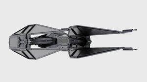 3D model kylo ren tie fighter