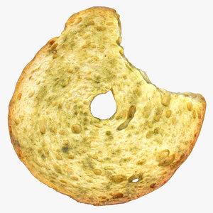 3D bread chips roll 01 model
