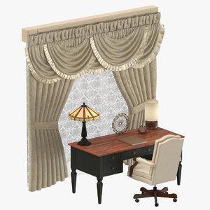 classical office 02 3D model