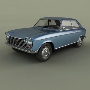 3D model 1965 peugeot 204 coupe