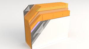 3D information wall passive model