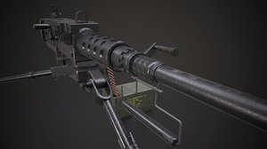 machine gun - browning m2 3D model