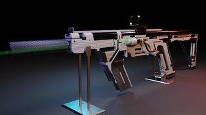 3D red dot sight suppressor
