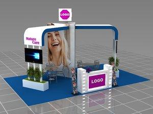3D modular fair stand model