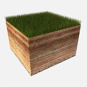 3D model soil cut section