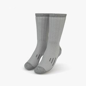 socks cloth 3D model