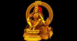 sabarimala swami gold ayyappan 3D