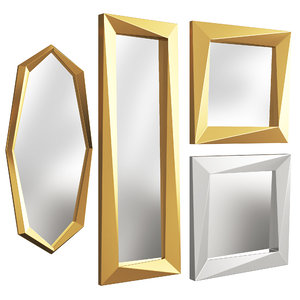 3D model gold silver mirrors eichholtz