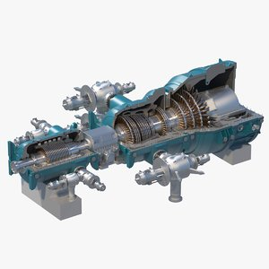 steam turbine section 3D model