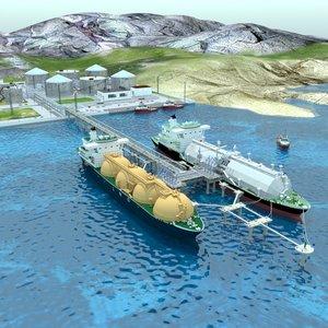 3D seaport berths