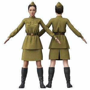 3D soviet military uniform