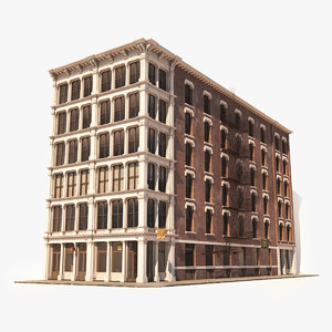 soho facade 8 architecture 3D model