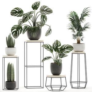 3D decorative plants pots stand