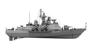 3D tarantul class corvettes model