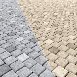 paving stones 3D