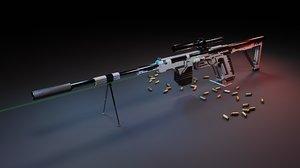 3D sniper rifle scope laser