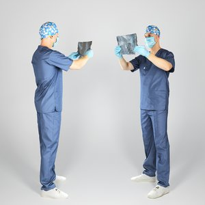 man surgeon character body 3D