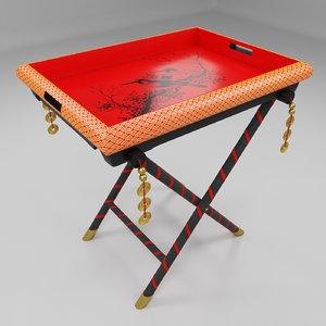 3D oriental tray model