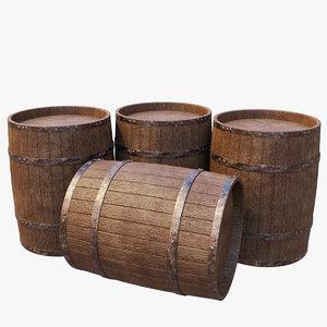 3D model stack barrels