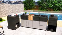 modern outdoor kitchen furniture 3dmodel Low-poly