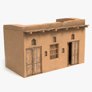 3D african house model