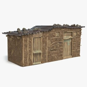 3D model african house