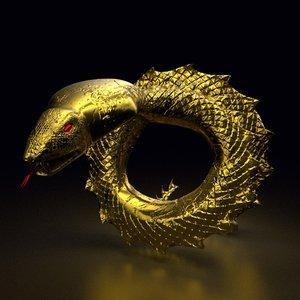font o snake 3D model