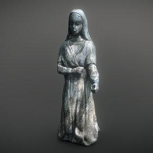 3D cemetery statue model