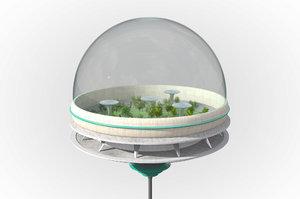 futuristic skyscraper model