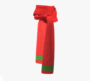 realistical christmas scarf 3D model