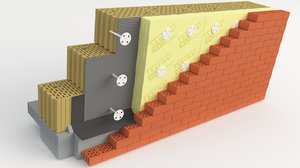 wall thermal insulation 3D model