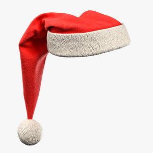 3D realistical christmas santa hat