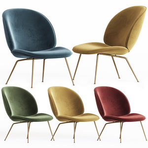 beetle lounge chair gubi 3D model