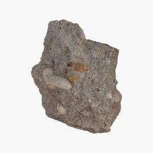 3D broken concrete piece 06