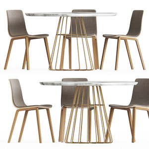 3D dining set 16 table