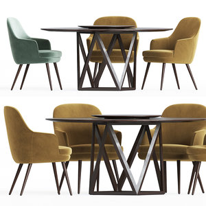 dining set 17 table 3D
