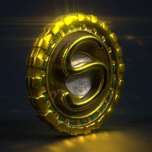 3D model f-s-s coin tiger