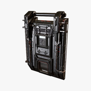 technical door 3D model