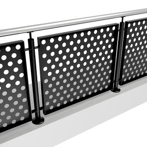 3D stainless steel iron railing