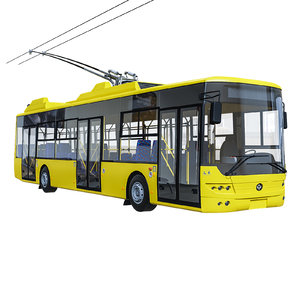 trolley bus 3D model