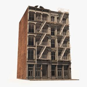 3D model soho facade 9 architecture